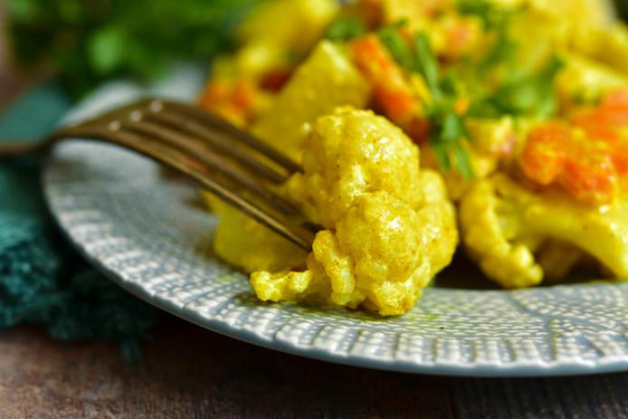 Kikkererwten- en Bloemkool Curry