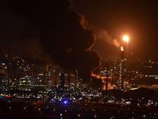 Grote brand bij Esso in de Botlek