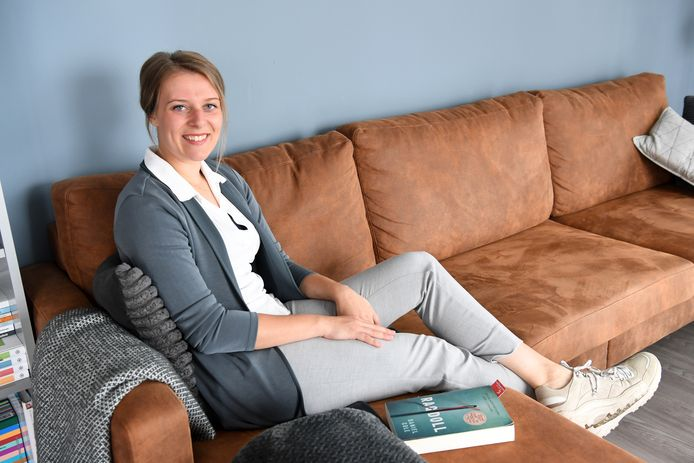 Anne Raafs, thuis in Eindhoven.