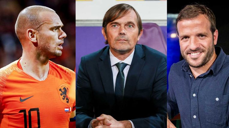Wesley Sneijder, Philip Cocu en Rafael van der Vaart (vlnr) Beeld ANP