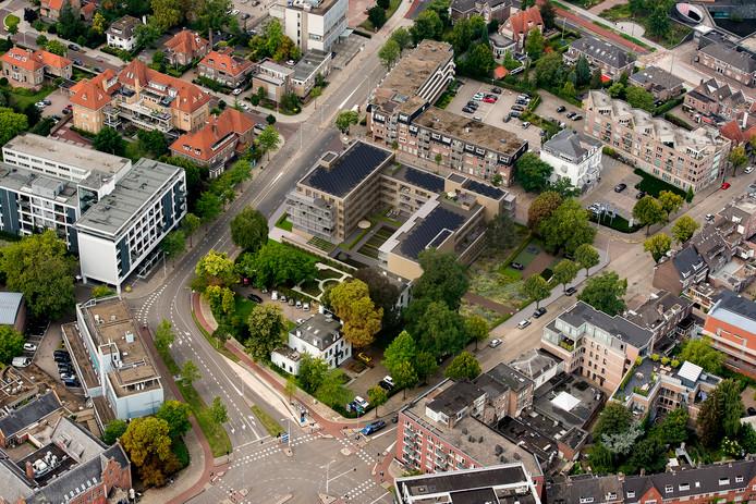 Het plan Hoog Stratum tussen Stratumsedijk, Jan Smitzlaan en PC Hooftlaan in Eindhoven. Ontwerp: Satijn Plus Architecten; tuin: Buro Lubbers.