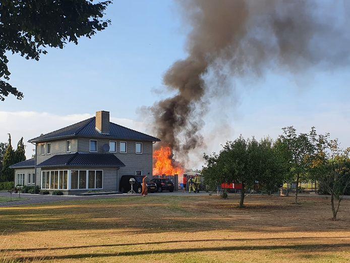 Schuurbrand in Hoogeloon.