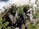 Poolse militairen tijdens een NAVO-oefening in Letland gisteren.