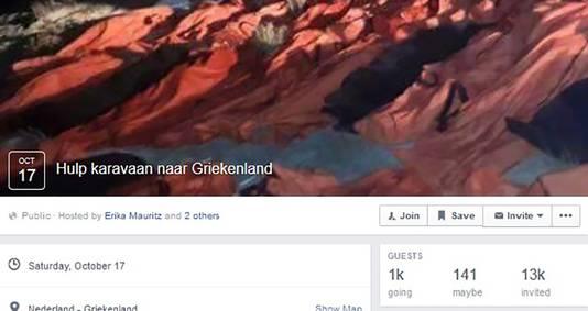 Erika Mauritz zette een facebookpagina op om zoveel mogelijk Nederlandse hulpgoederen te verzamelen