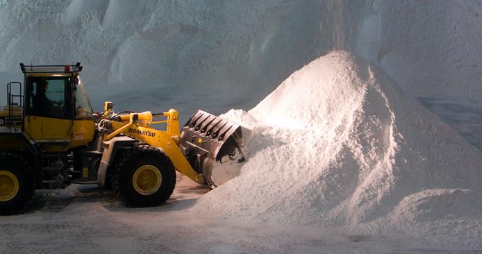 Deventer en Salland gebruiken samen elke winter bijna een miljoen kilo strooizout.