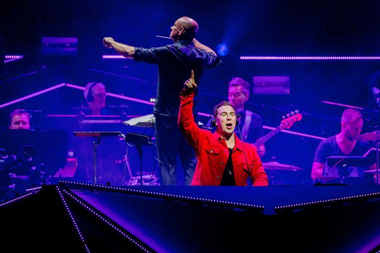 2018-10-18, Amsterdam - DJ Hardwell en het Metropole Orkest tijdens een optreden in de Ziggo Dome als onderdeel van het Amsterdam Dance Event.  Beeld ANP
