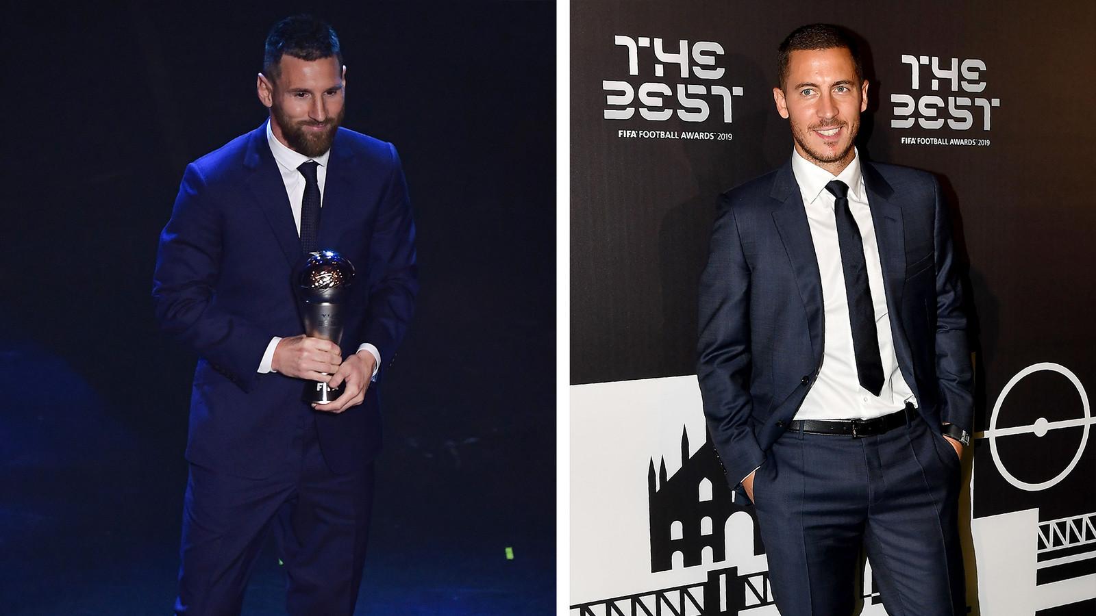 Lionel Messi et Eden Hazard.