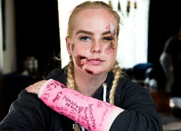 Cheyenne Spinhoven werd slachtoffer van een horrorclown