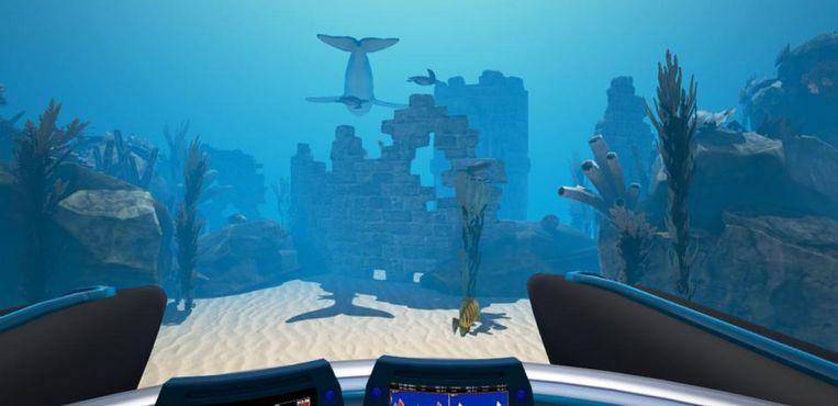 De VR-bril van het Zeepreventorium neemt je onder andere mee naar een prachtige onderwaterwereld.