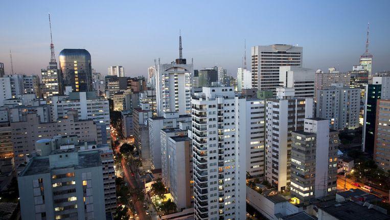 De skyline van Sao Paulo.