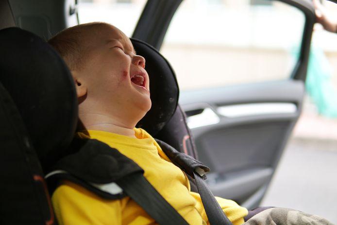 Het kindje was erg overstuur volgens de politie. Foto ter illustratie.