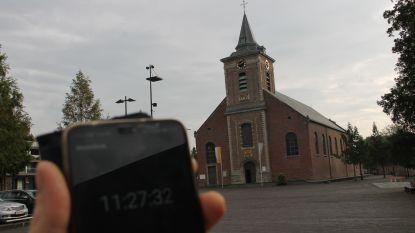 Kerktoren is even het juiste uur kwijt