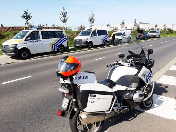 Een verkeerscontrole van politie Blankenberge.