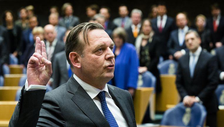 De beëdiging van Reinier van Zutphen, de Nationale Ombudsman. Beeld anp