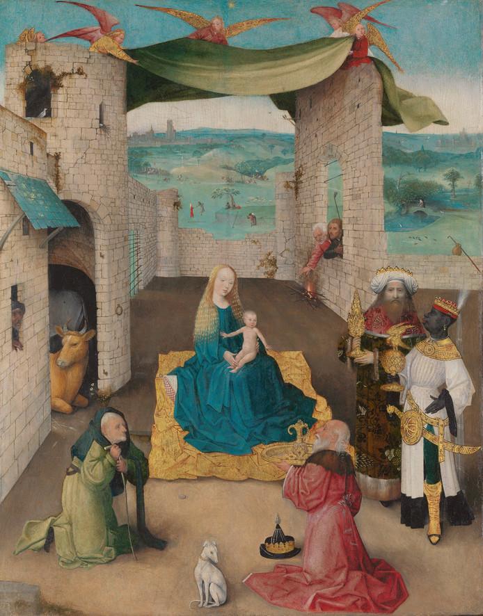 Bosch' Aanbidding der Drie Koningen uit het Metropolitan Museum in New York is voor drie maanden terug in Den Bosch. Foto BRCP - Rik Klein Gotink