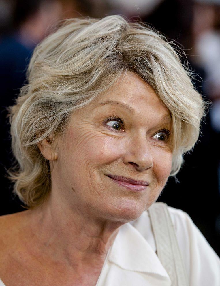 Martine Bijl tijdens de uitreiking van de Johan Kaart Prijs, 2013. Beeld ANP