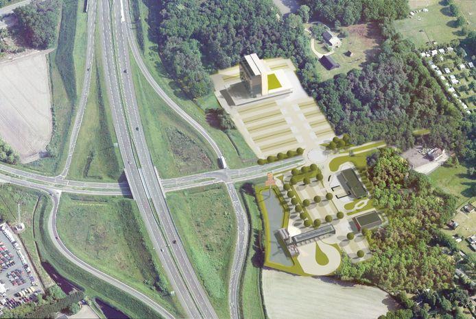 Via Port of Bergen op Zoom snel vanaf A4 naar het hart van recreatiegebied De Heide.