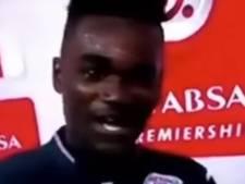 VIDEO: Ghanese voetballer bedankt vrouw én vriendin op tv