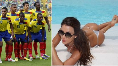 Ecuador: Antonio Valencia, 'Chucho' en model Natalia Velez
