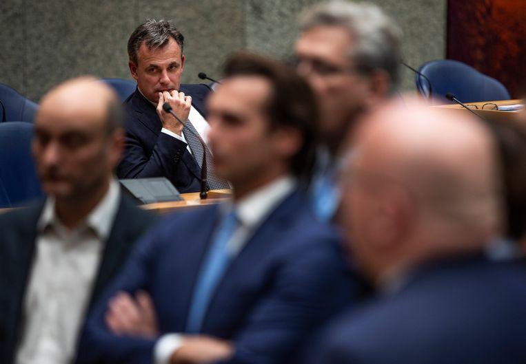 Staatssecretaris Mark Harbers van Justitie en Veiligheid (VVD) tijdens het debat. Beeld Freek van den Bergh