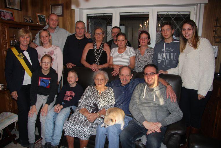 Pierre en Denise met hun familie.