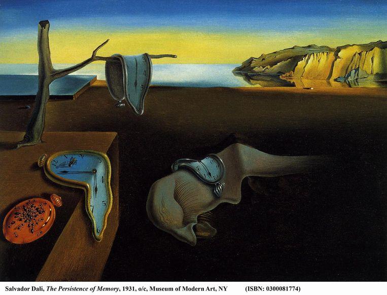 Salvador Dalí, De volharding der herinnering, 1931. Beeld null