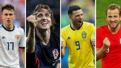 Rusland, Kroatië, Zweden en Engeland krijgen gouden kans: wie knokt zich naar WK-finale?