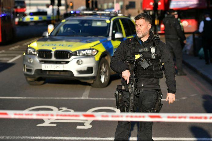 Politie bij de London Bridge.