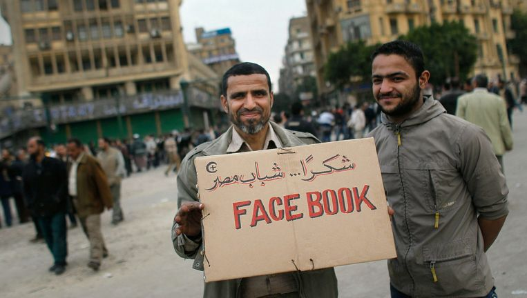 Anti-regeringsbetogers in Caïro, begin februari. Beeld Getty Images