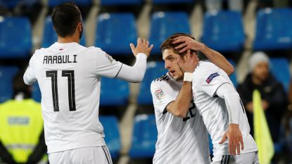 En dat onder toeziend oog van Barcelona-scouts: Chakvetadze scoort vierde goal in zes interlands