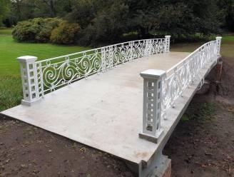 """Sierlijke brug in kasteeldomein Hof ter Borght in ere hersteld: """"Stap voor stap de grandeur van weleer laten terugkeren"""""""