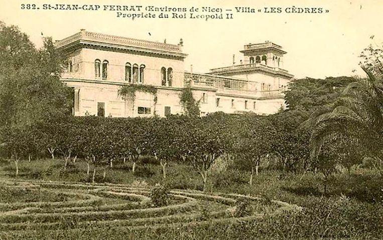 Villa Les Cédres kwam in 1904 in het bezit van koning Leopold II, die er zijn minnares in onderbracht.