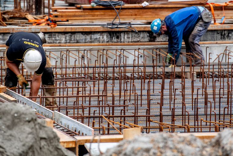 In de bouw is het risico van beroepsziekten groot.  Beeld ANP