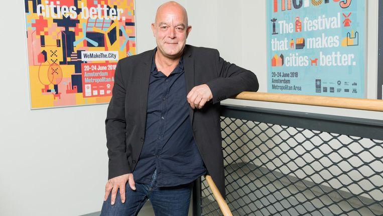 Directeur Egbert Fransen: 'Pakhuis de Zwijger heeft veel betekenis voor de stad' Beeld Ivo van der Bent