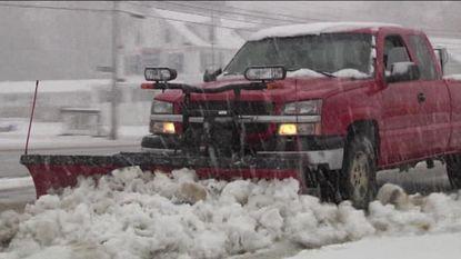 Dik pak sneeuw verrast de VS