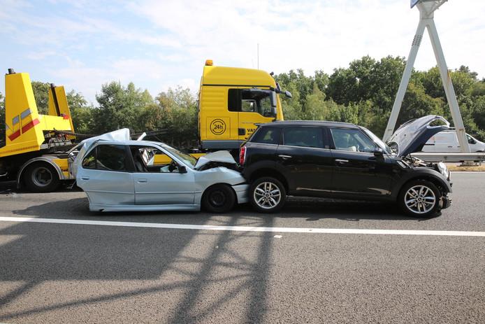 Ongeval op A58  bij Bergen op Zoom.