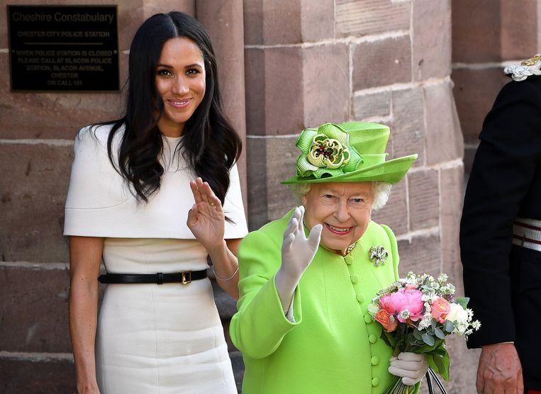 Meghan Markle en Queen Elizabeth