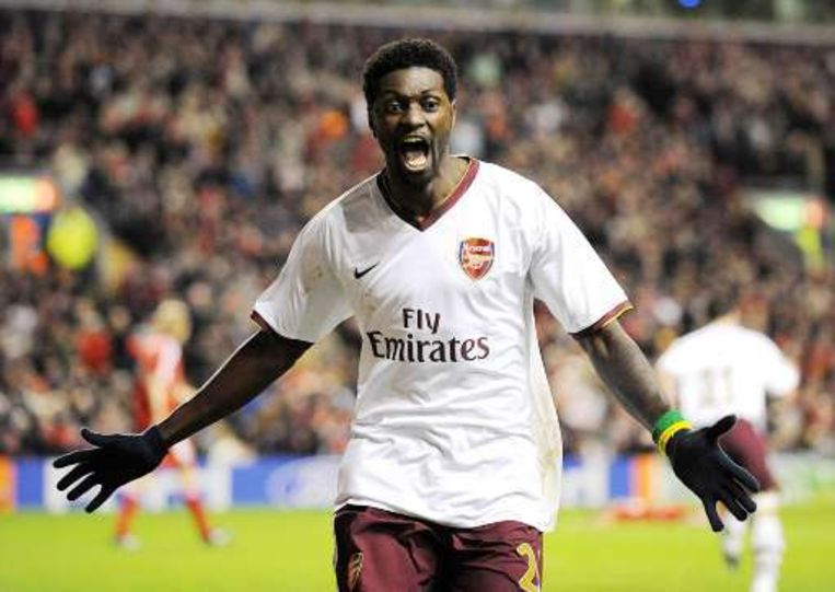 Bij Arsenal kwam Adebayor in 142 wedstrijden tot 65 goals.