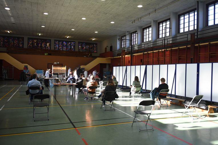 Bloedserieus in Gymnasium Sportkot Leuven.