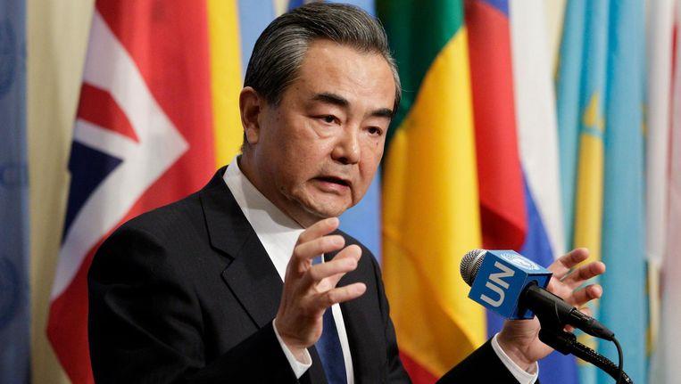 Wang Yi, de Chinese minister van Buitenlandse Zaken. Beeld anp