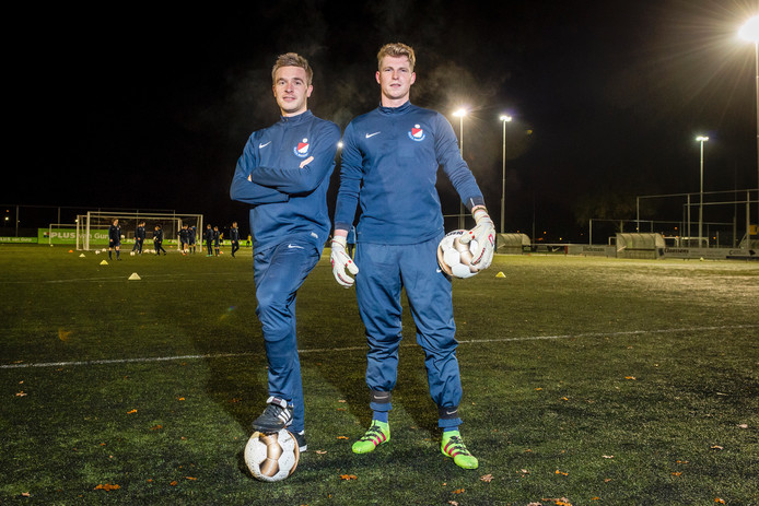 Hans Frijters (links) en Kevin Kilsonk van Roosendaal. Foto: Tonny Presser/Pix4Profs