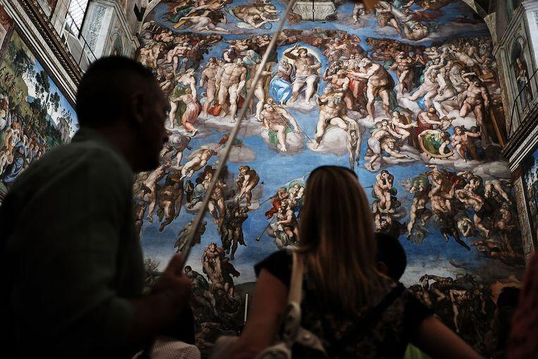 De Vaticaanse Musea met Michelangelo's fresco's in de Sixtijnse kapel. Beeld Getty/ Spencer Platt