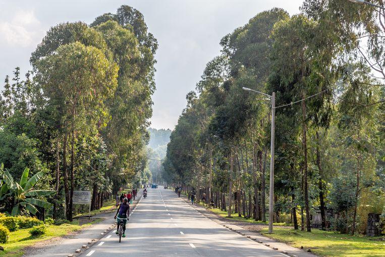 De mooie, brede en schone straten van Rwanda  Beeld Noel van Bemmel