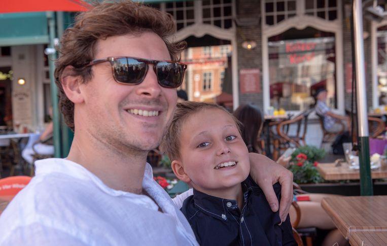 Aaron Dobbels met zijn broer Beau tijdens een van de vele uitstapjes