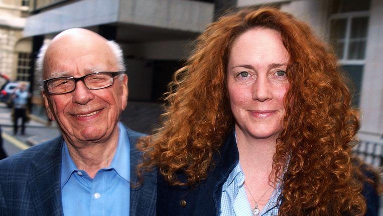 Mediatycoon Rupert Murdoch en News International-baas Rebekah Brooks: 'Trut'. Beeld AFP