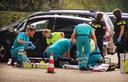 Bij het TweeSteden ziekenhuis in het Brabantse Waalwijk waren hulpverleners bezig met een slachtoffer van een schietpartij