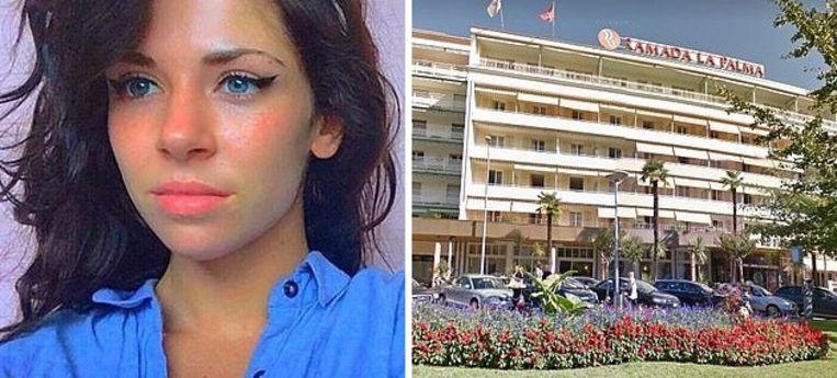 De vrouw werd gisteren dood aangetroffen in haar hotelkamer.