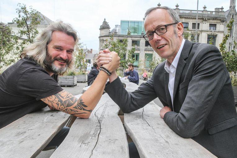 Filip Watteeuw en Kurt Burgelman zaten voor de eerste keer samen aan tafel.