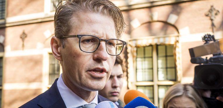 Minister Sander Dekker (rechtsbescherming) gaf toe dat de overheid is tekortgeschoten. Beeld ANP