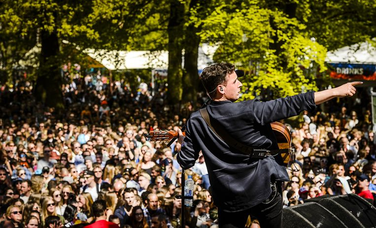 Het bevrijdingsfestival in Haarlem. Beeld anp